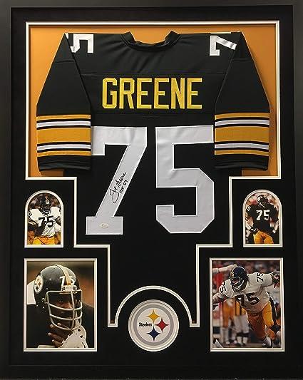aa3039b1c6c Joe Greene Pittsburgh Steelers Autograph Signed Custom Framed Jersey HOF  Inscribed JSA Witnessed Certified