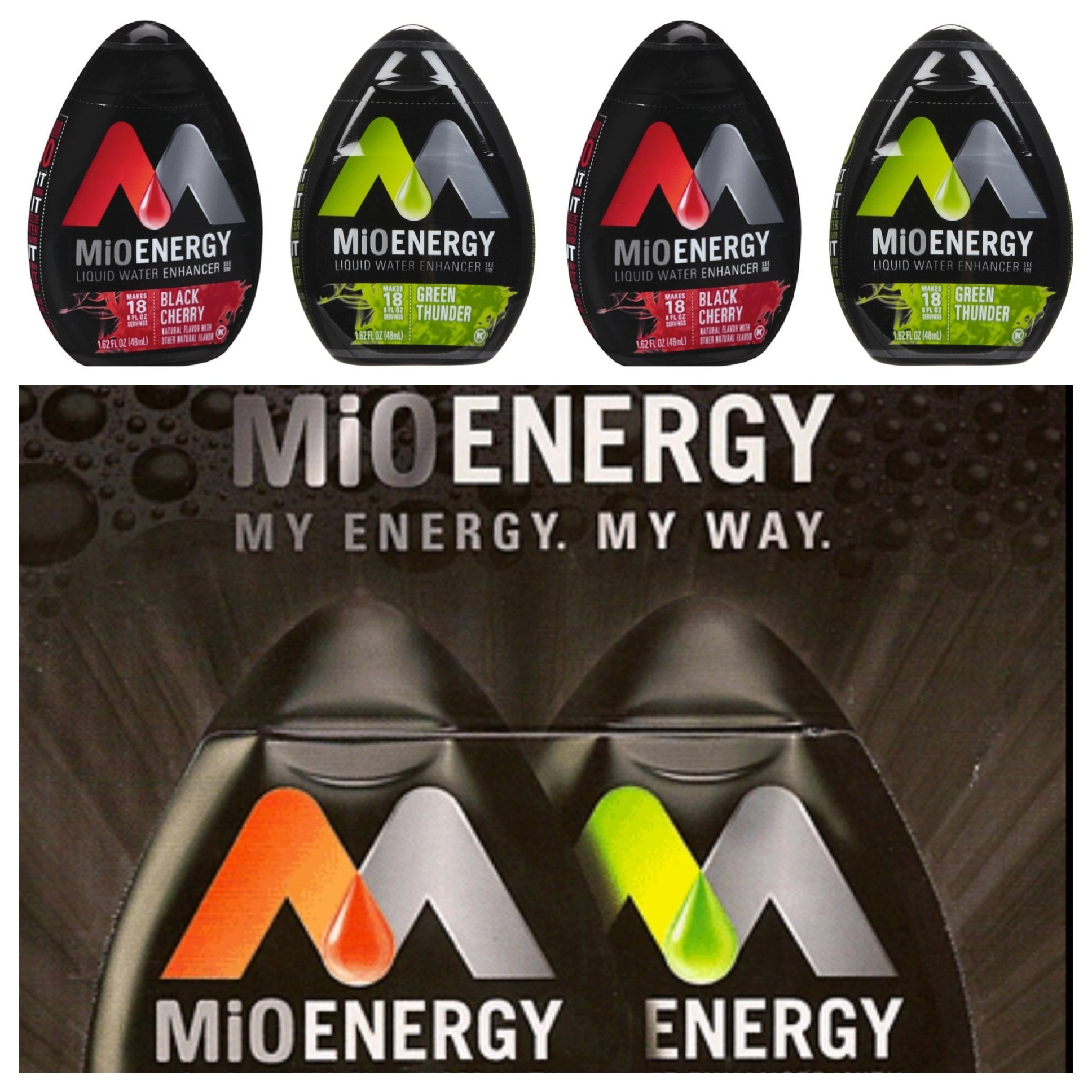 Mio Water Enhancement - Variety (Pack of 4) (Energy Variety)