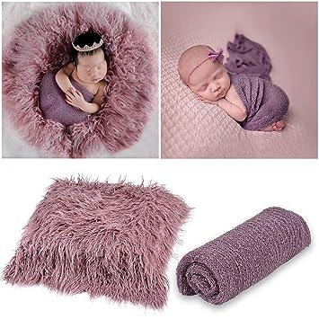 2ff78feb5fd21 Aniwon 2Pcs Baby Photo Props Long Ripple Wraps DIY Blanket Outfits Newborn  Wraps Photography...