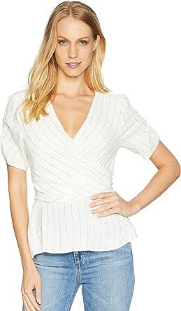1.State Womens Ticking Stripe Wrap Top w Tie Back at Amazon Women s ... da03647850