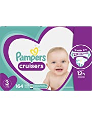 Pampers Diapers Size 3, Cruisers Disposable Baby Diapers, 164 Count, Economy Pack Plus (Packaging May Vary)