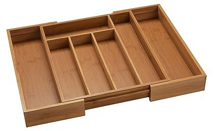 bamsira expandable kitchen drawer organizers for utensilsadjustable kitchen drawer dividers7 compartments - Kitchen Drawer Organizers