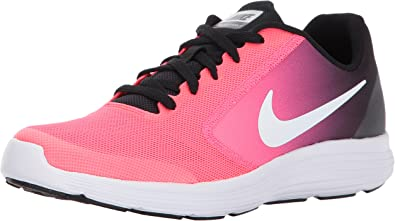 Nike Revolution 3 GS, Zapatillas de Gimnasia para Niños, Multicolor (Black/White/Racer Pink), 35.5 EU: Amazon.es: Zapatos y complementos