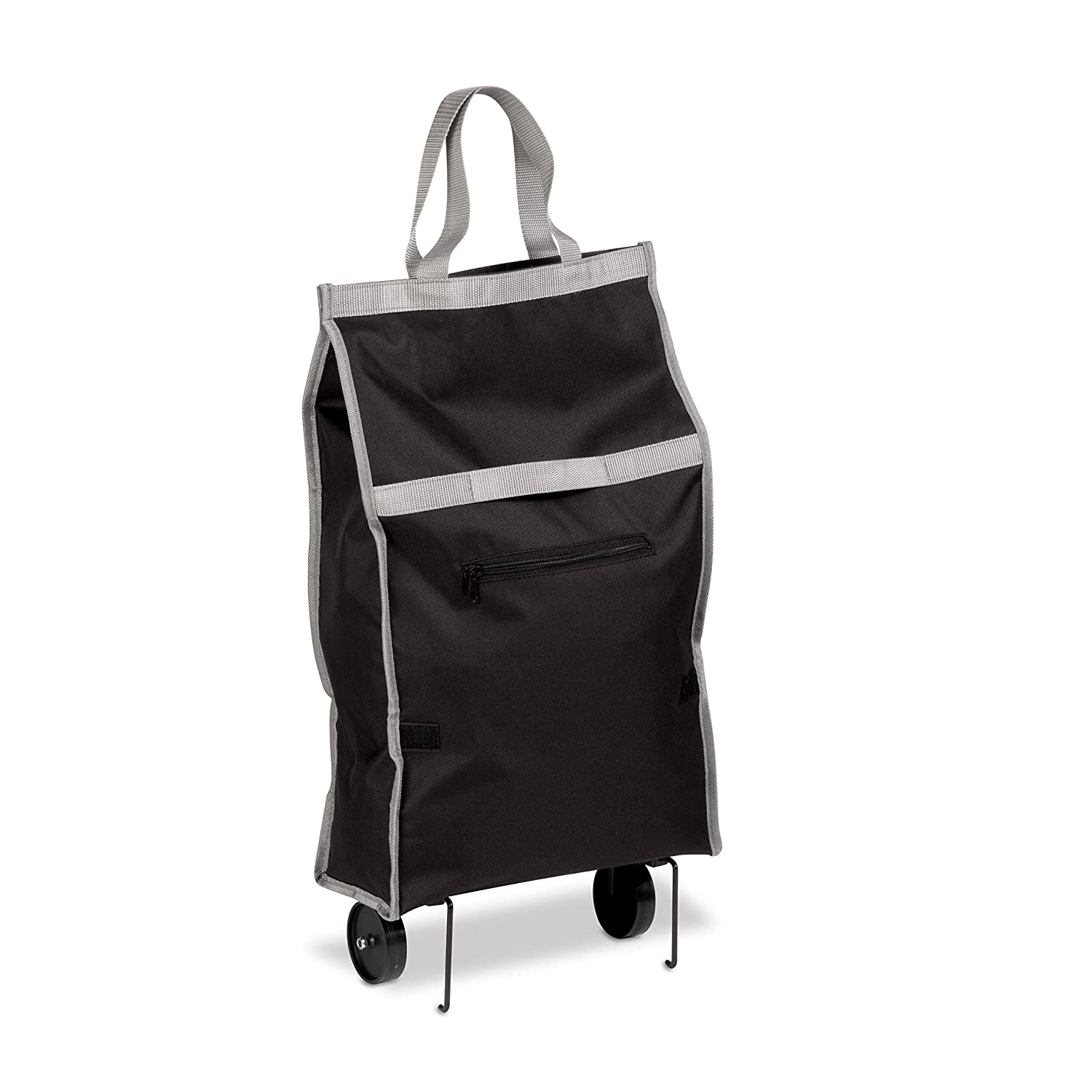 Amazon.com: Honey-Can-Do CRT-03933 Large Rolling Knapsack Bag Cart with Tri-Wheels for Steps, Holds up to 40-Pounds, Black: Home & Kitchen