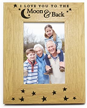 I Love You To The Moon And Back 6 X 4 Photo Picture Frame Gifts