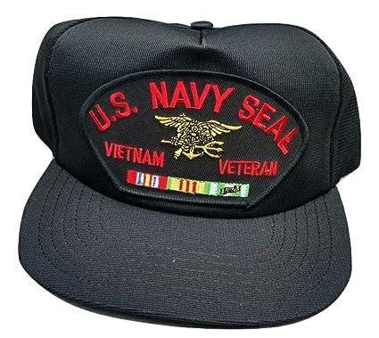 4eaede6c7df Image Unavailable. Image not available for. Color  HMC US Navy Seal Vietnam  Veteran Adjustable Ball Cap
