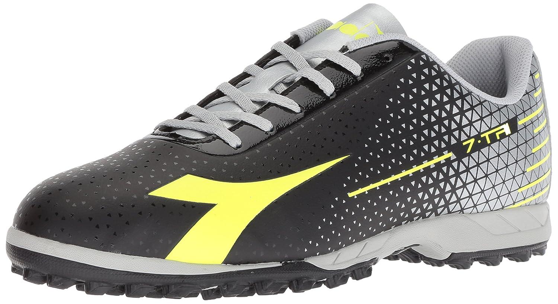 Diadora Men's 7-Tri Tf B07693K3VK 6.5 D(M) US|Black/Flo Yellow/Silver