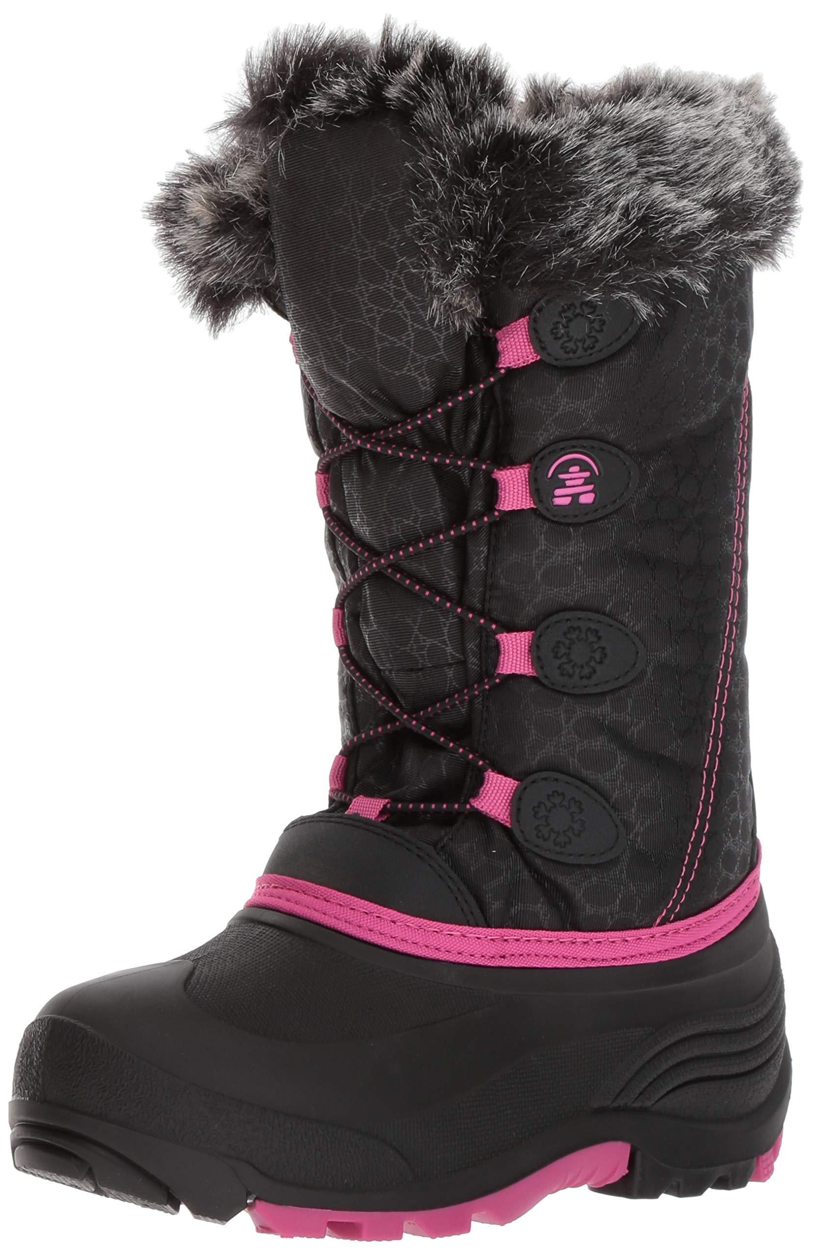 Kamik Kids' Snowgypsy Snow Boot, Black/Magenta/Bmm, 3 Medium US Little Kid