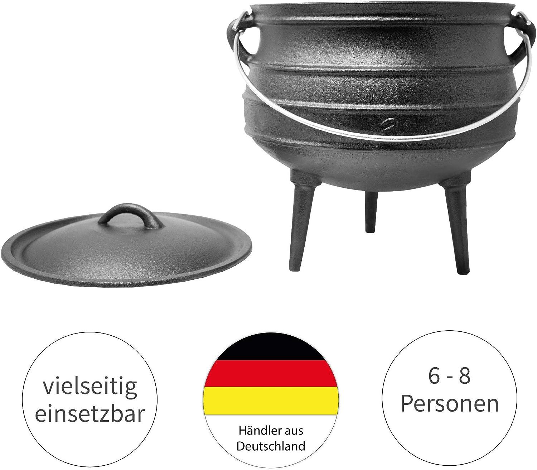 pentola di ghisa sudafricana valida alternativa al dutch oven disponibile in diverse misure a scelta forno olandese Big Bbq Potjie ToCis