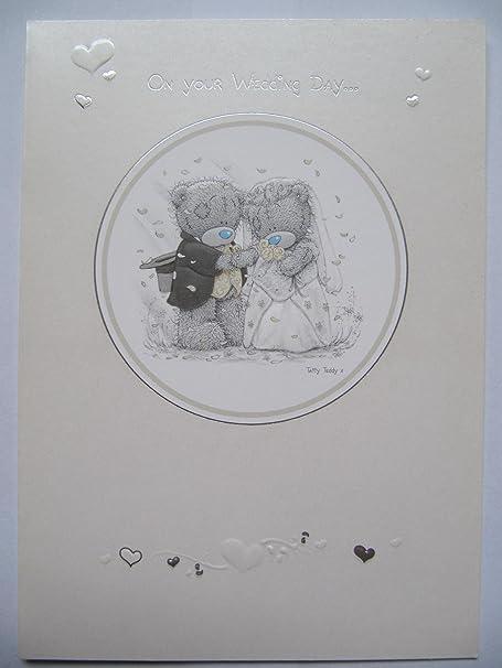 Tarjeta de felicitación de boda con el mensaje en inglés «me to ...