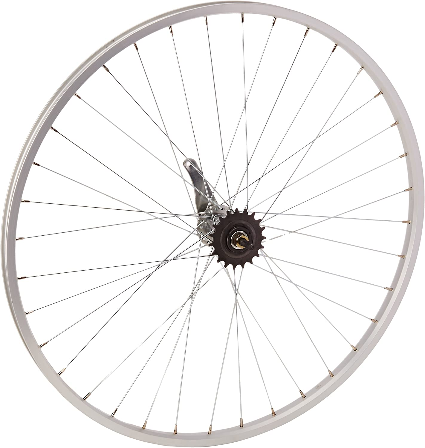New 26 x 1 3//8 Coaster Brake Steel Chrome Bike Rear Wheel