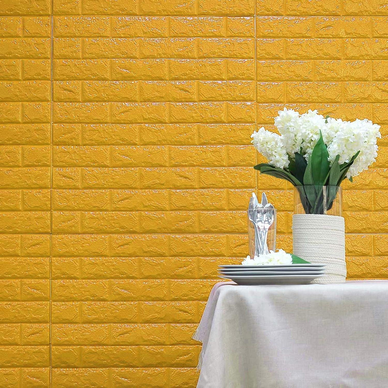BalsaCircle 10 pcs 33 Wide Baby Blue Faux Brick Texture Waterproof Foam Wall Panels Backdrop DIY Party Banquet Decorations BalsaCircle Brick Wall Tiles