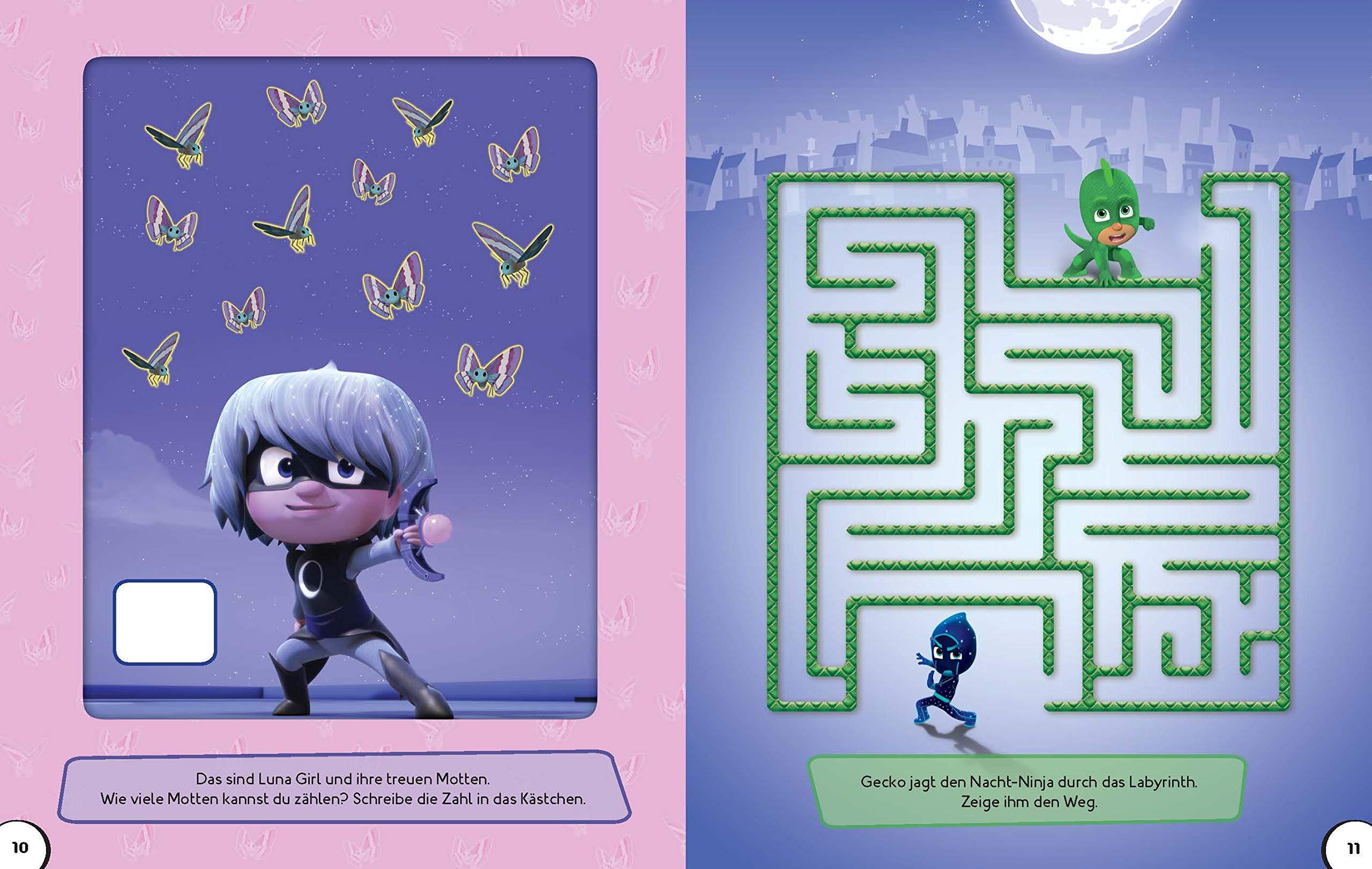 PJ Masks Mein Rätselbuch: Rätselspaß mit über 70 Stickern ...