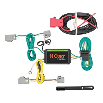 CURT 56242 Vehicle-Side Custom 4-Pin Trailer Wiring Harness for Select on trailer coupler types, trailer hitch types, hair extension types, wiring harness connector types,