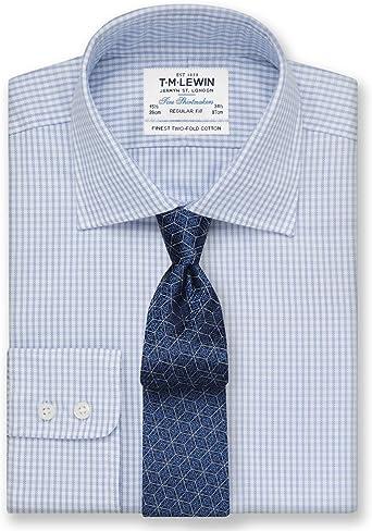 TM Lewin Camisa Casual - para Hombre Azul Azul 39 cm Cuello ...
