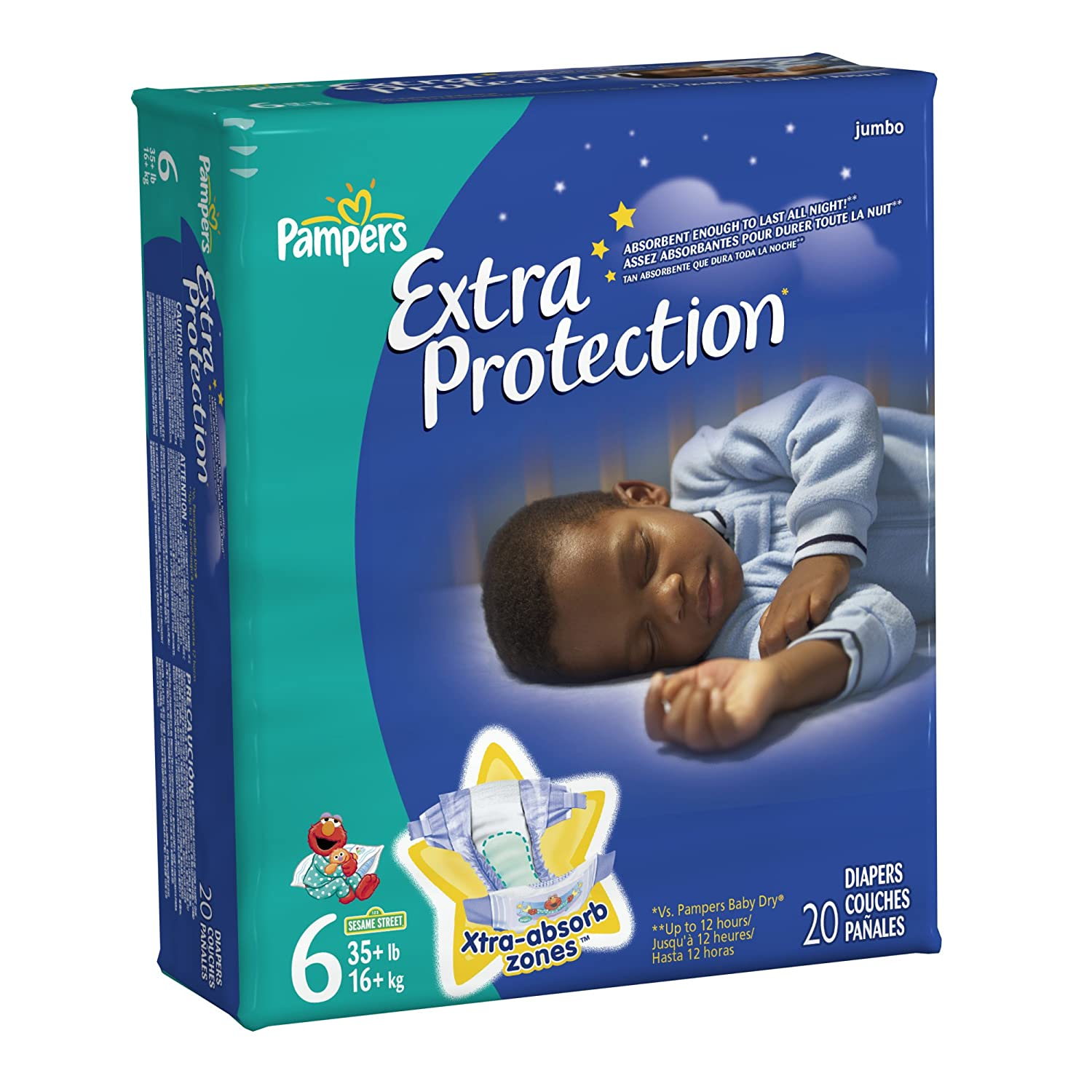 Amazon.com: Pampers Extra Protection Size 6 Diapers Jumbo Pack 20 Count (Pack of 4): Health & Personal Care