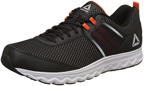 77c3a0c2f Reebok Men s Run Dashride Xtreme Black Bright Lava Running Shoes-11 UK India