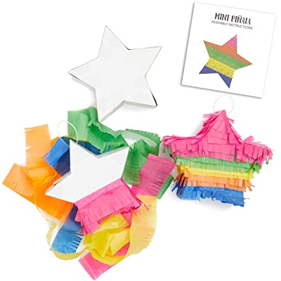 Small Rainbow Star DIY Pinata Craft Kit for Kids Birthday Party (5 in, 3 Pack): Arts, Crafts & Sewing