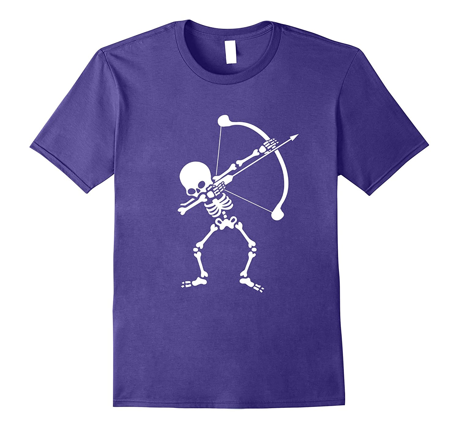 Archery Skeleton Dabbing Halloween Dab Dance T-Shirt-Rose