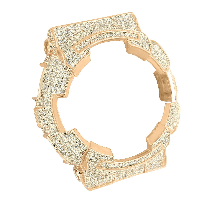 G Shock腕時計ベゼルローズゴールド仕上げaqs810シミュレートダイヤモンドカスタムCZ B01GGMTRIG