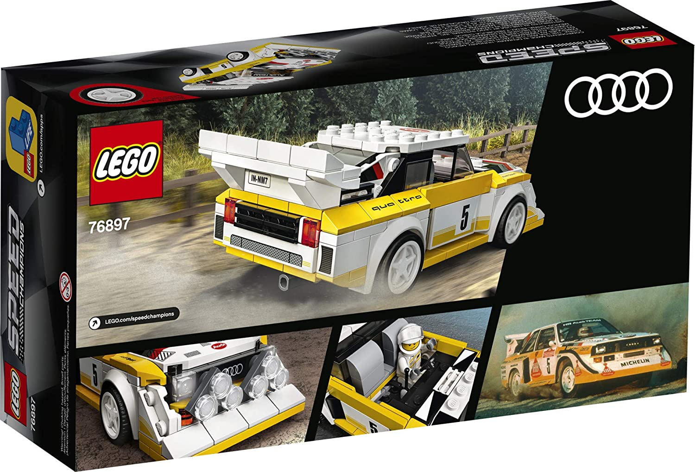 Jaune LEGO Speed Champions 76897-1985 A-u-d-i Sport Quattro S1 Blanc 250 pi/èces