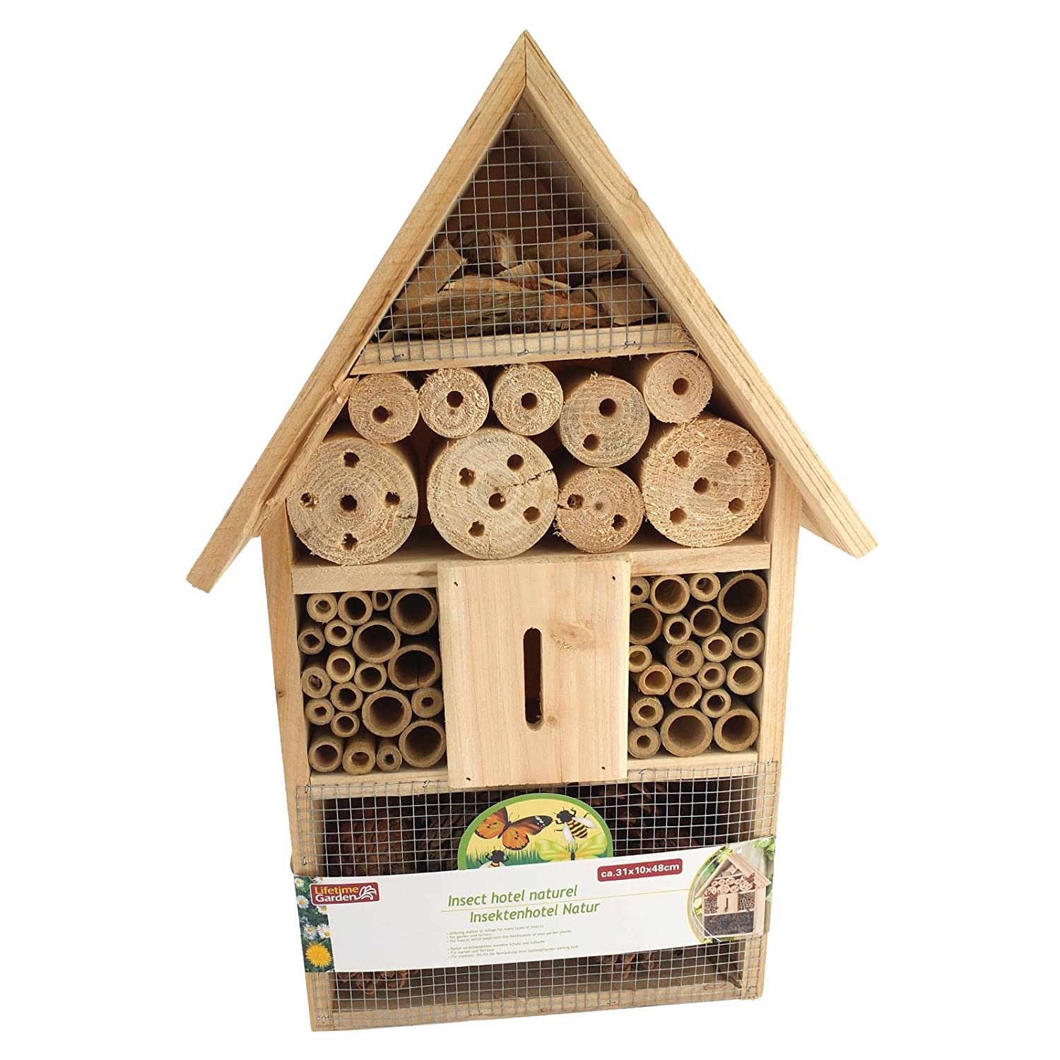 Insect / Bee / Bug House / Hotel / Shelter Box For Garden, Lawn Bid Buy Direct