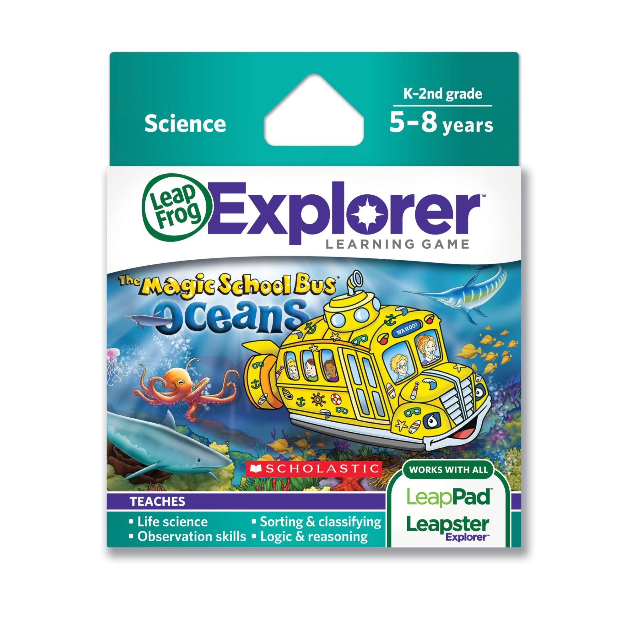LeapFrog The Magic School Bus Oceans Learning Game (Works with LeapPad Tablets, LeapsterGS, and Leapster Explorer) by LeapFrog