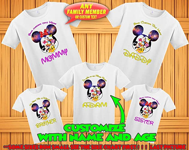 Mickey Minnie Mouse Family Matching Tshirts Birthday Disney Custom T Shirts Vacation Personalized