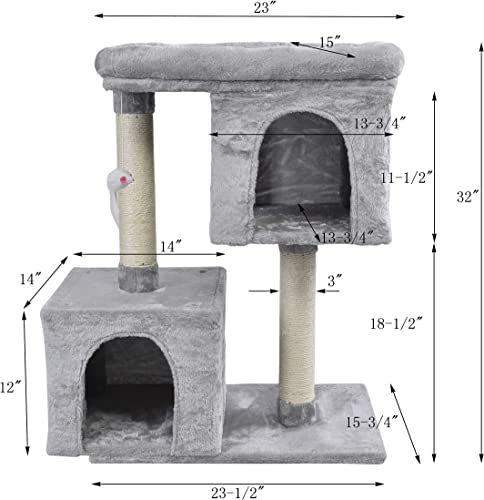ECOLINEAR Cat Tree Condo Furniture Scratching Post Pet Kitten House