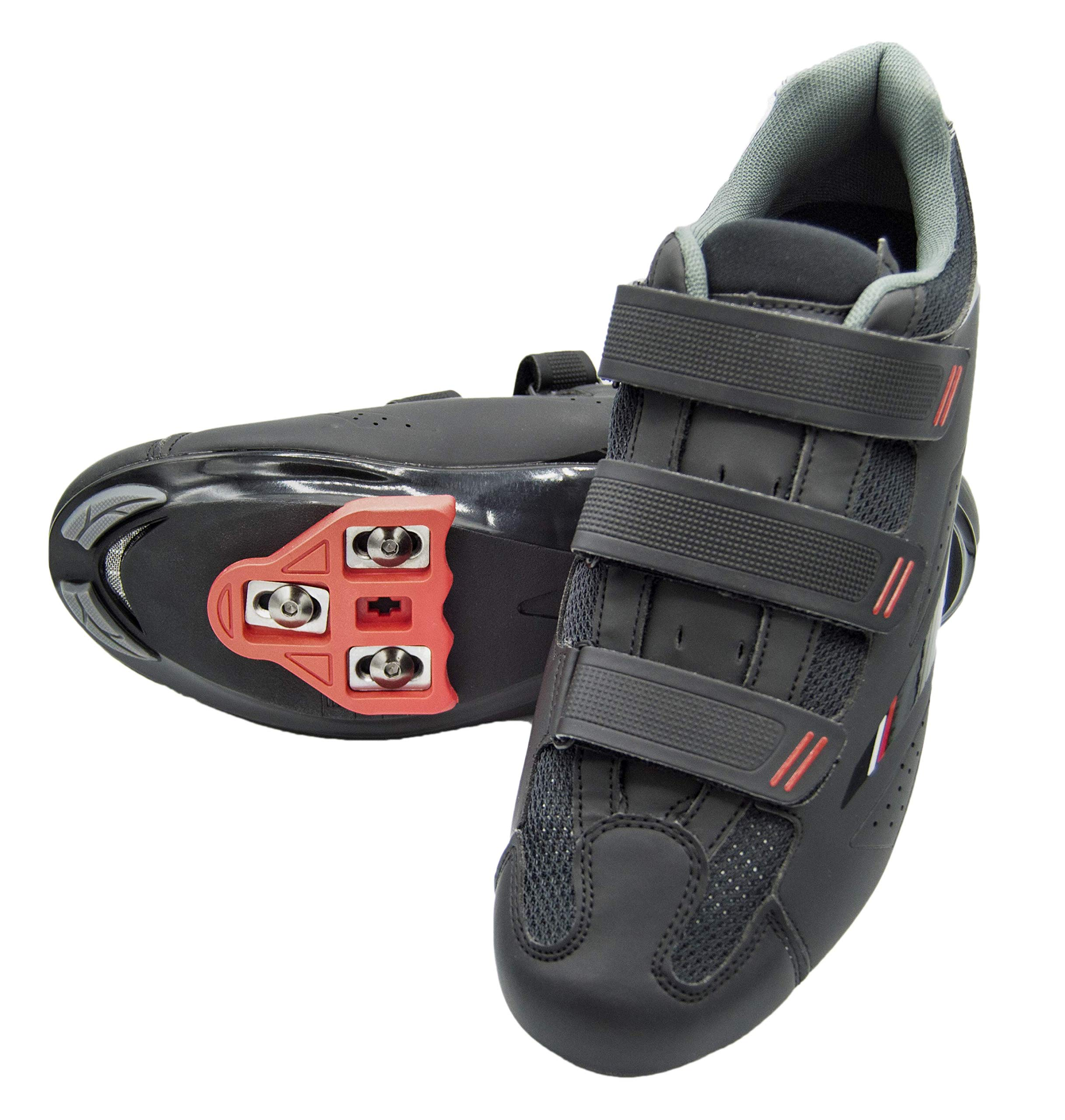tommaso Strada 100 Dual Cleat Compatible Spin Class Ready Bike Shoe - Look Delta - 44 Black by tommaso