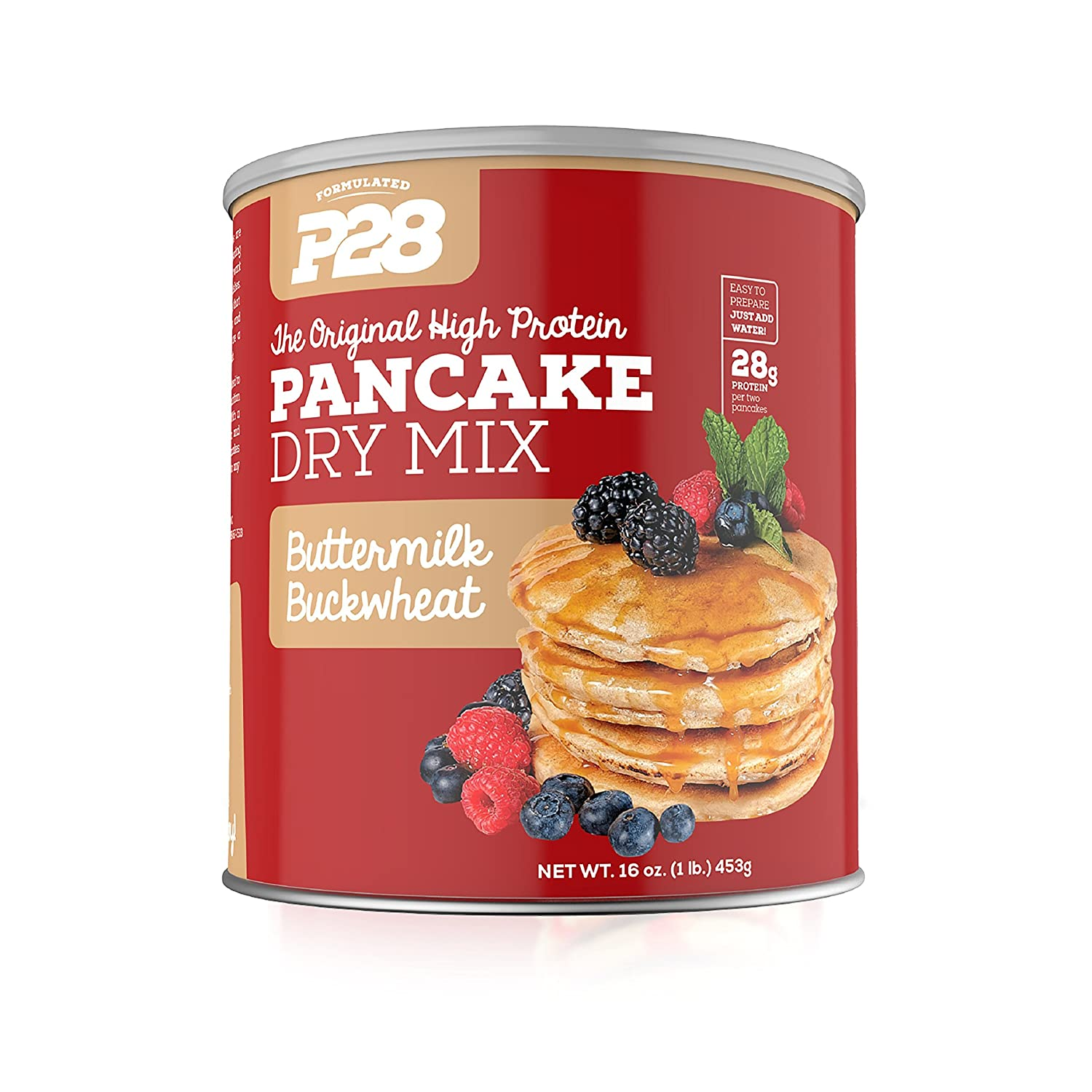 Amazon p28 foods the original high protein pancake dry mix amazon p28 foods the original high protein pancake dry mix buttermilk buckwheat 16 ounce grocery gourmet food ccuart Gallery
