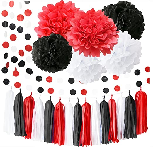 Minnie Mouse Suministros para fiestas Blanco Negro Rojo Bebé ...