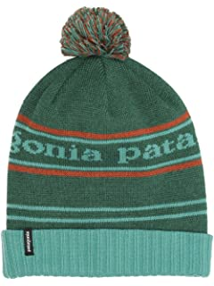 a649dc3d8 Patagonia Hats Glacier Stripe Pom Bobble Beanie Hat - Blue-Green 1 ...
