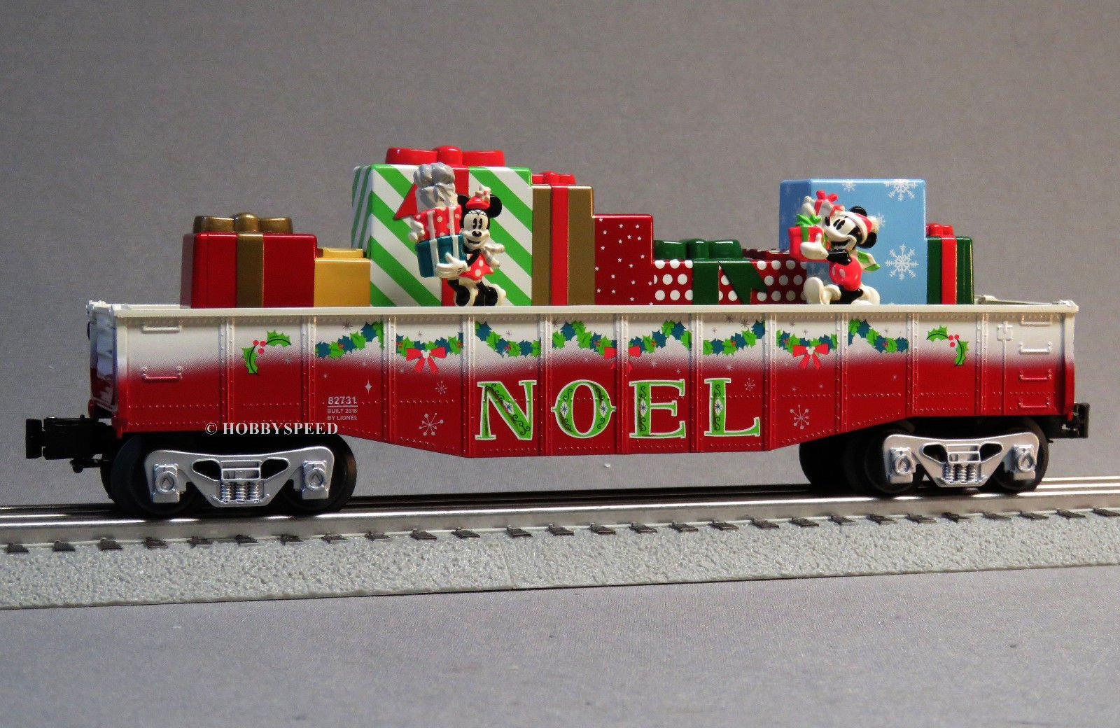 LIONEL DISNEY CHRISTMAS OPERATING GONDOLA CHASE CAR MICKEY&MINNIE