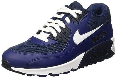 Nike Herren Air Max 90 Essential Sneakers Schwarz 44 EU