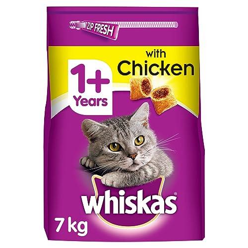 Whiskas Croquettes Fourrées au Poulet pour Chat 1+ 7 kg