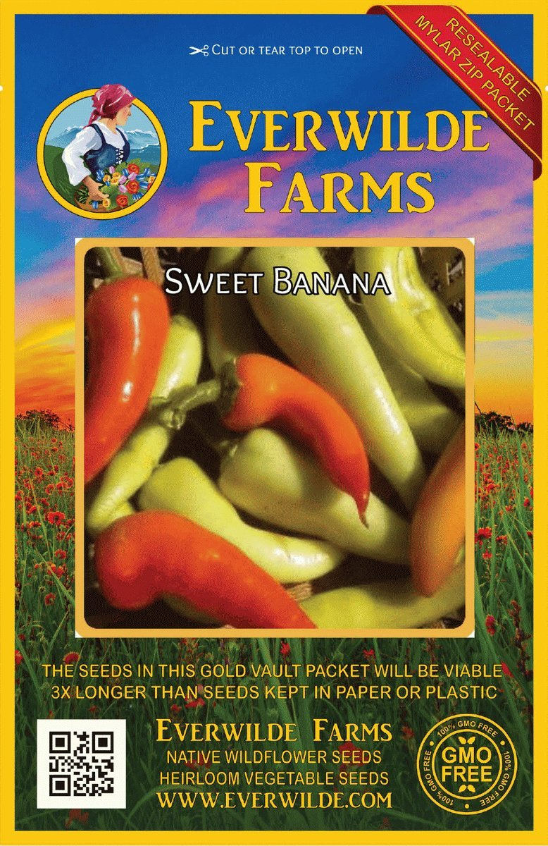 Everwilde Farms Mylar Seed Packet 1 Oz Serrano Hot Pepper Seeds Home & Garden Seeds & Bulbs
