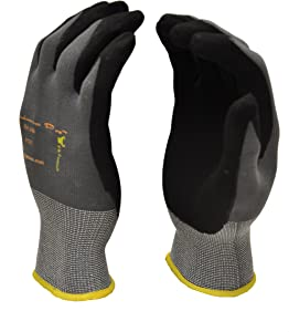 Microfoam Nitrile Coated Work Gloves for General Purposes, Lightweight Work Gloves, 12 Pair Pack, Medium
