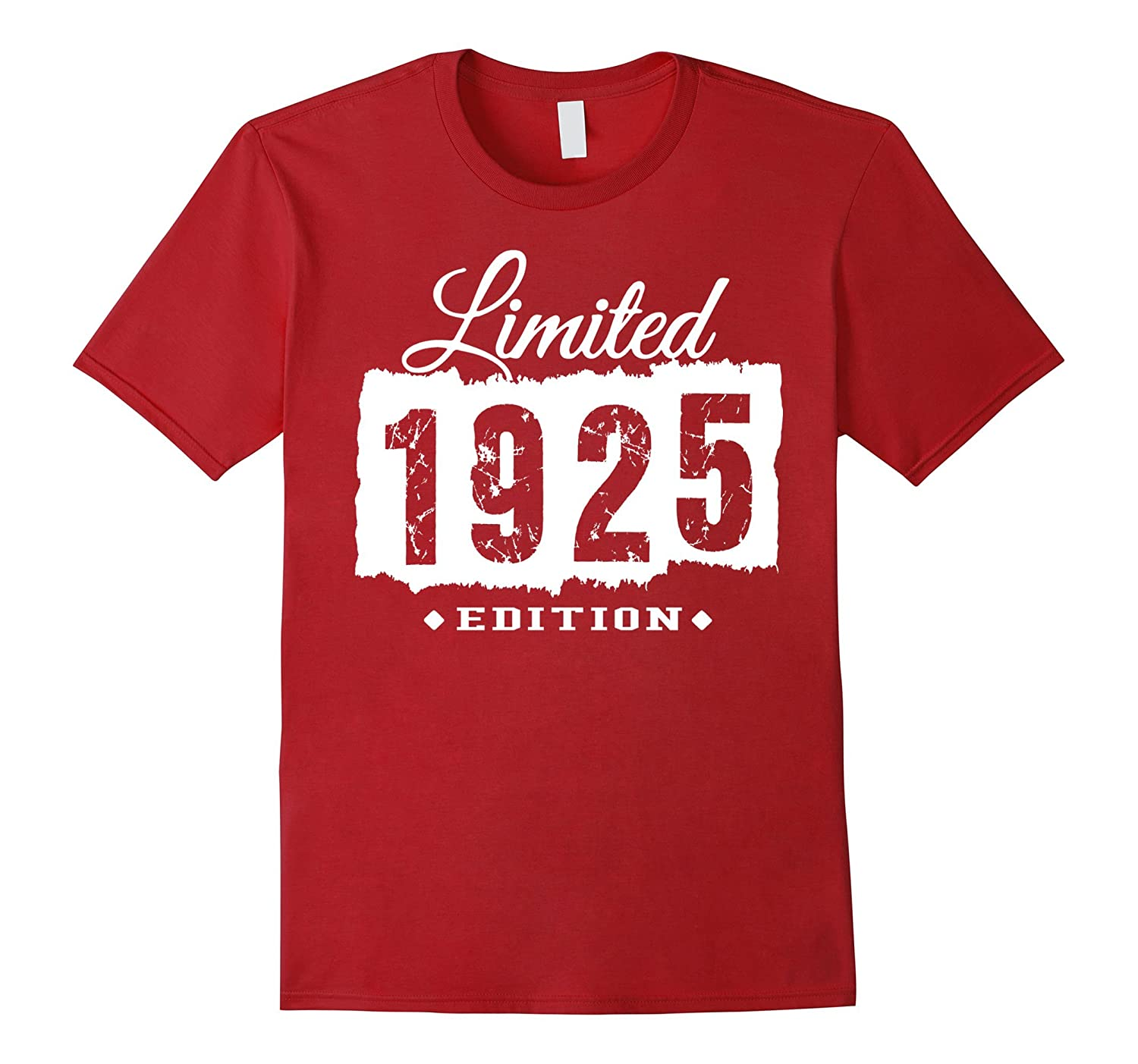 1925 Limited Edition 92nd Birthday 92 Years Old Shirt-PL