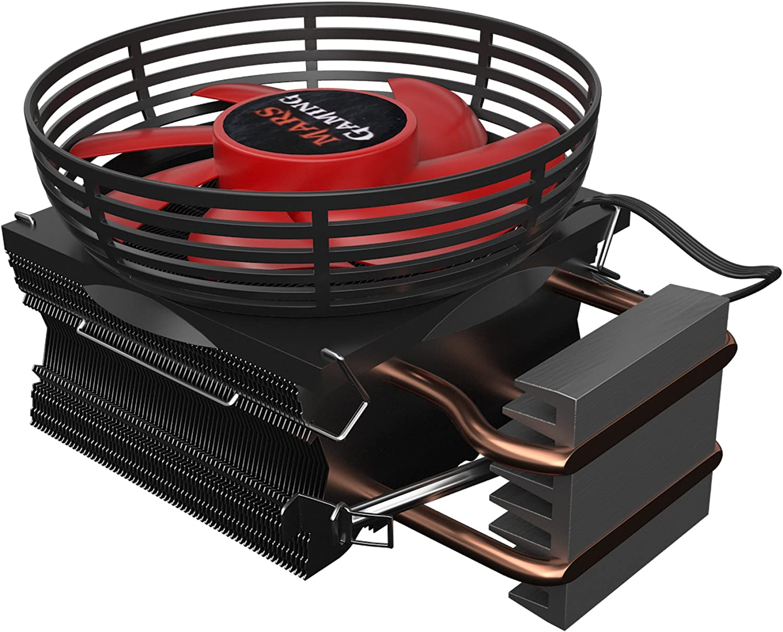 AM4 Mars Gaming MCPU3+ LED rossi Dissipatore di calore per PC,ventola 92mm