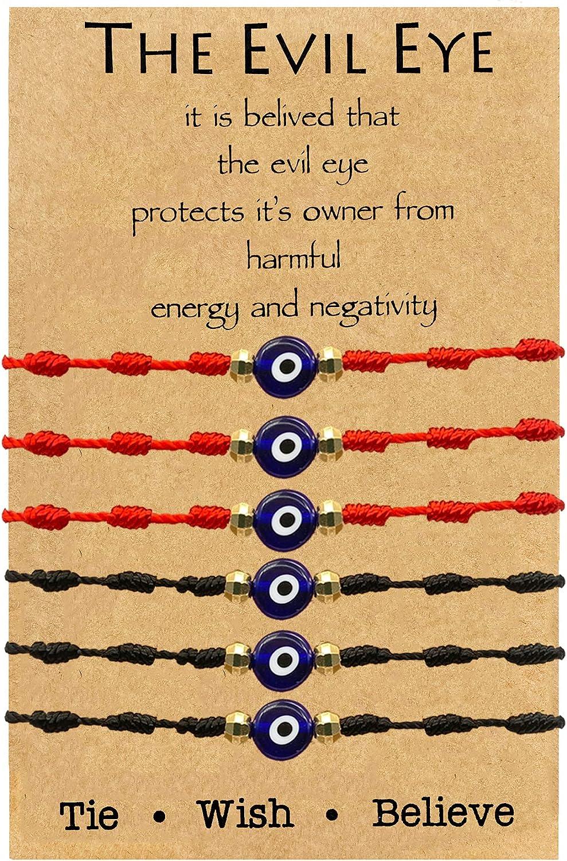 choice of all Evil Eye Bracelet 7 Knot Evil Eye Protective Bracelets Lucky String Kabbalah Protection for Women Men Family