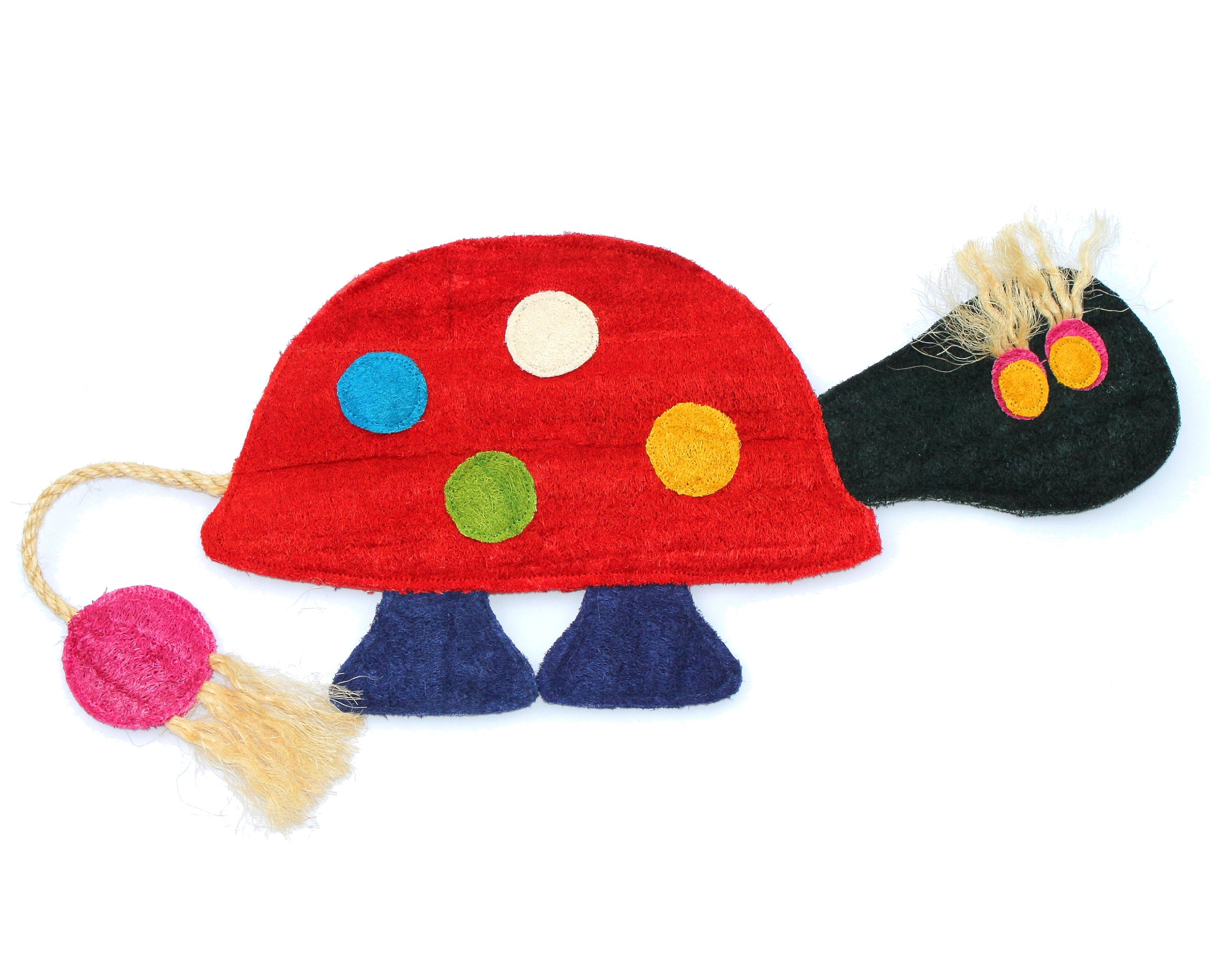 Eco-Loofah Original Play and Scratch Station Pet Toy, Turtle Design
