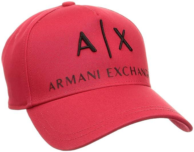 Amazon.com  Armani Exchange Men s Logo Hat 39b326163aad