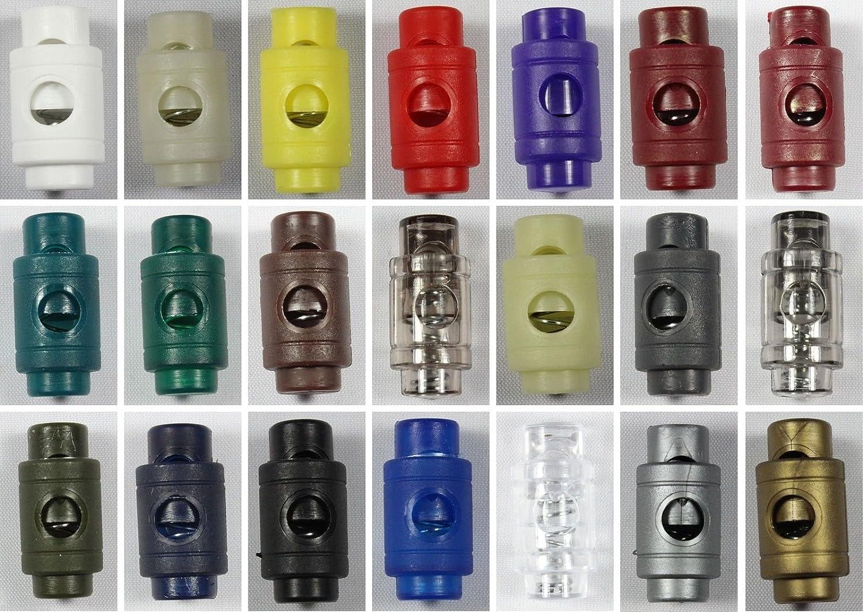 10 Stück (0, 25€/Einheit) Kordelstopper zylinder Einloch 5mm- weiß-101 10 Stück (0