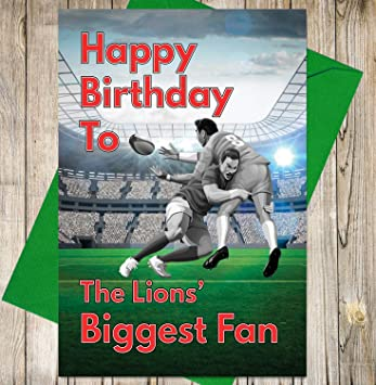 Rugby Birthday Card The Lions Biggest Fan Amazon Office