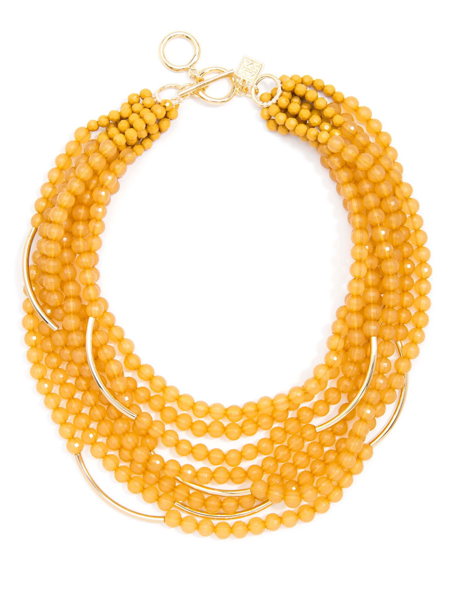 ZENZII Catch The Wave Beaded Necklace (Honey)