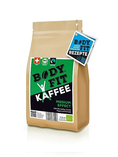 Bodyfit Medium, grüner Kaffee, Extrakt: Aus 100% BIO, Vegan & Fairtrade Rohkaffee, Green coffee bean, hergestellt in der Schw