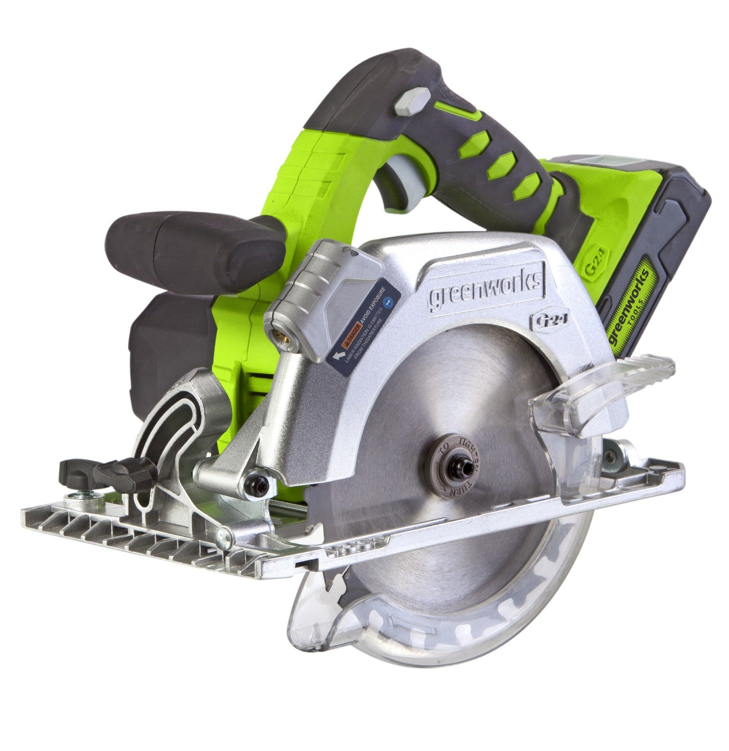 Greenworks Scie circulaire 24V Lithium-ion 1500507 sans batterie ni chargeur