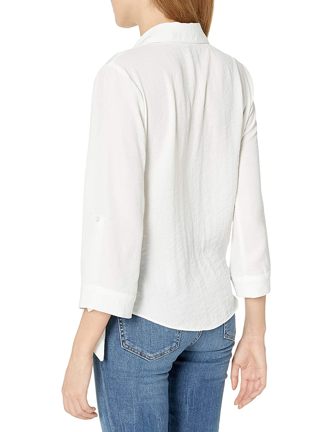 A Byer Womens Juniors Wrap Top with Side Tie