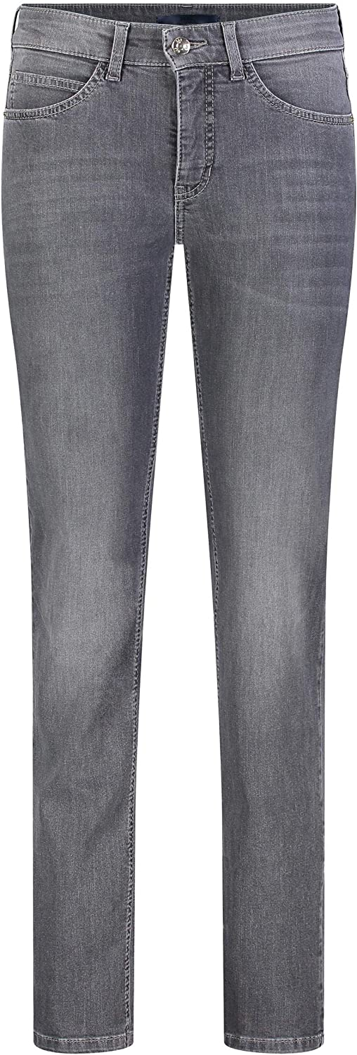 MAC Jeans Damen Hose Slim Angela blau-dunkel Grau (Dark Grey Authentic Used D918)